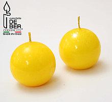 Свеча круглая Yellow. Ручная работа, Италия