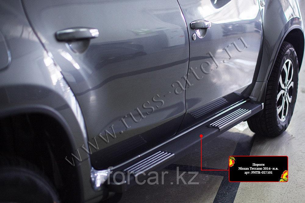Пороги металлические. Вариант 1 Nissan Terrano 2014-