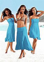 Голубое платье транcформер (хлопок)