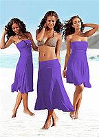 Фиолетовое платье трансформер-хлопок