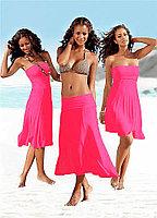 Темно Розовое платье транcформер (хлопок)