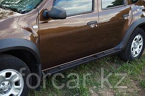 Пороги металлические. Вариант 2 Renault Duster 2010-