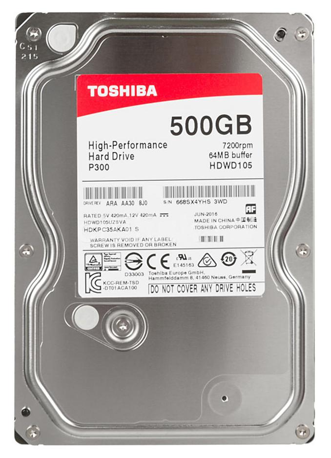 "HDD 500 Gb Toshiba HDWK105UZSVA, 2.5"", 8Mb, 5400rpm, Serial ATA II-300, for NB OEM"