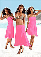 Нежно розовое платье трансформер-хлопок