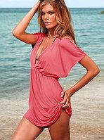 Пляжное розовое платье-туника,пляжное