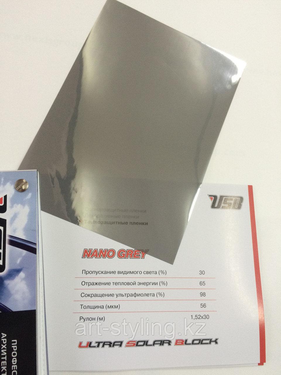 Теплоотражающая пленка Nano Grey 30% (серый)