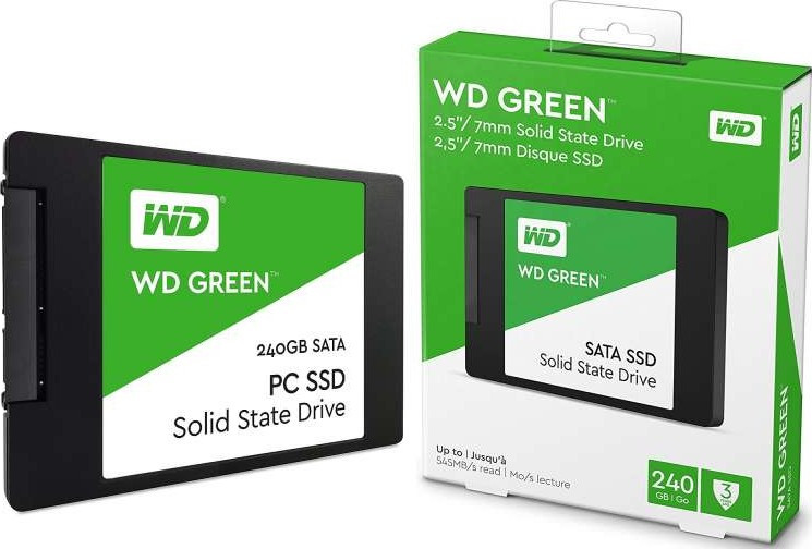 SSD Western Digital Green, 240 GB SATA WDS240G2G0A, SATA 6Gb/s