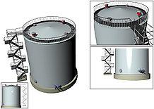 Монтаж вертикальных резервуаров РВС от 500 до 5000 м3