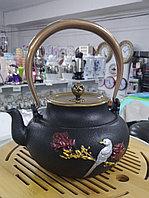 """Чайник чугунный """"Птичка на ветке"""", 1л"""