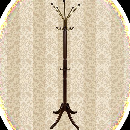 """Вешалка напольная для одежды стойкая """"ГРАЦИЯ ЛЮКС"""" цвет Красное дерево, фото 2"""