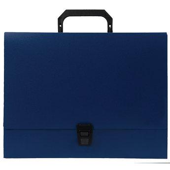 Папка-портфель A4 40 мм с замком синяя 0.70 мм Proff. Standard.