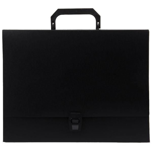 Папка-портфель A4 40 мм с замком черная 0.70 мм Proff. Standard.  Proff