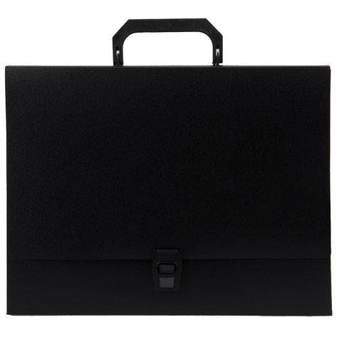 Папка-портфель A4 40 мм с замком черная 0.70 мм Proff. Standard.  Proff, фото 2