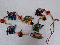 Гирлянда из 5 слоников ручной работы.