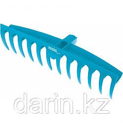 Грабли пластиковые, 400 мм, 12 прямых зубьев, усиленные, Luxe, Palisad