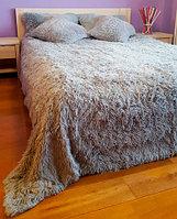 Плед-пододеяльник с длинным ворсом «Двухсторонняя травка» (150 х 200 см / Светло-серый)