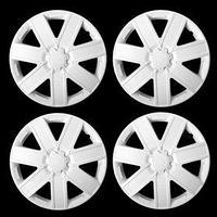 Колпаки колесные R14 'ГАЛАКСИ', белый глянец карбон, набор 4 шт
