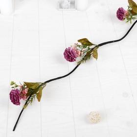 Декор тинги 'Гвоздики пышные с зеленью' 150 см (фасовка 5 шт, цена за 1шт), микс (комплект из 5 шт.) - фото 2