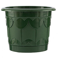 Горшок Тюльпан с поддоном, зеленый, 2,9 л Palisad