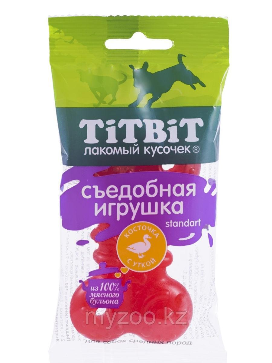 Tit Bit,Тит Бит Съедобная игрушка косточка с уткой Standart