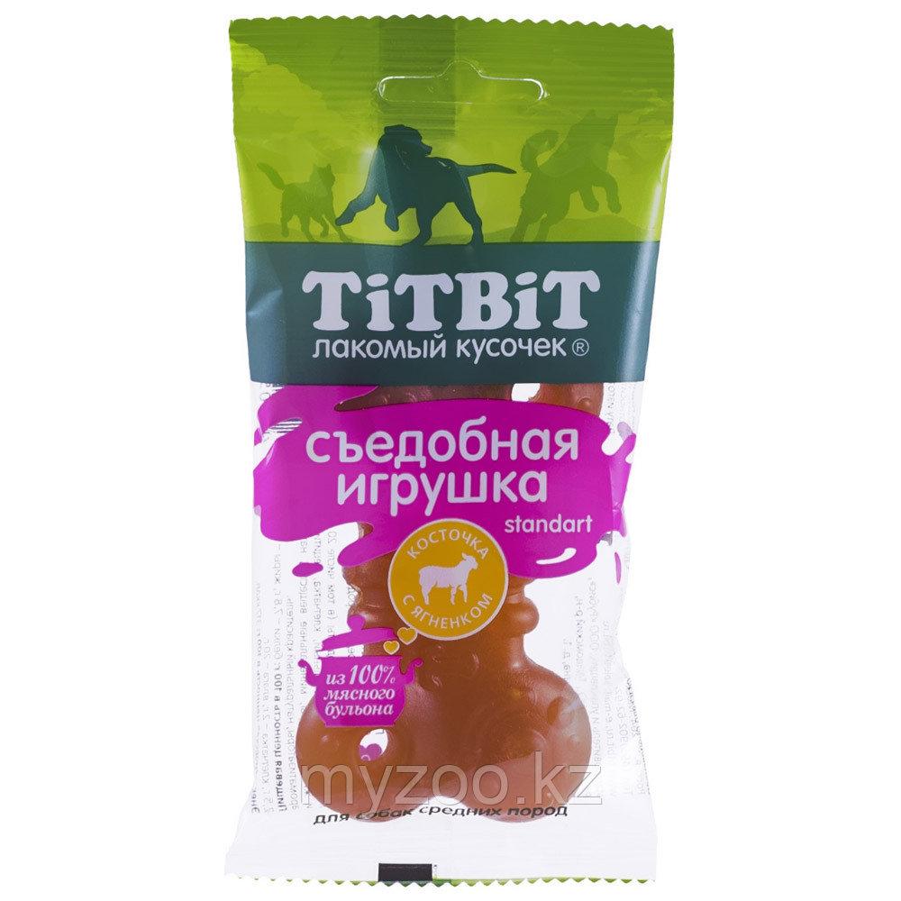 Tit Bit,Тит Бит Съедобная игрушка косточка с ягненком Standart