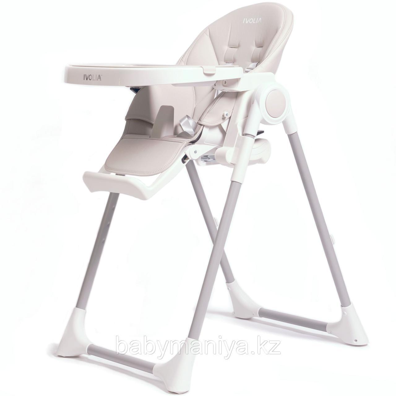 Стульчик для кормления  IVOLIA Q6 Light Grey с колесами