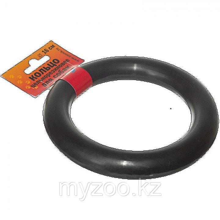 Игрушка Кольцо Зооник  большое,литое, черное (d 160мм)