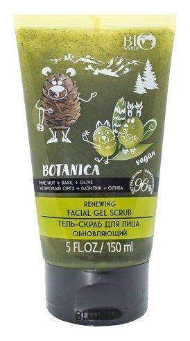 Гель-скраб для лица обновляющий Кедровый орех, базилик, олива Bio World Botanica