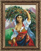 """Набор для вышивания бисером """"Итальянка с цветами"""""""