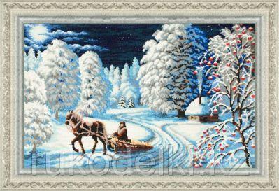 """Набор для вышивания бисером """"Зимняя ночь"""""""