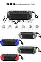 Влагозащищенная беспроводная портативная Bluetooth колонка + Power Bank на 5000 mAh, New Rixing NR-1000
