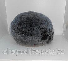 Берет Nazarkov, s Furs француз серый