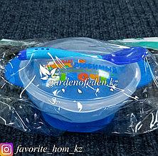 """Набор детской посуды """"Mum&Baby"""". Материал: Пластик. Цвет: Синий/Полупрозрачный."""