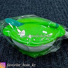 """Набор детской посуды """"КрошкаЯ"""". Материал: Пластик. Цвет: Зеленый/Белый."""