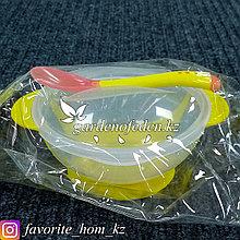 """Набор детской посуды """"КрошкаЯ"""". Материал: Пластик. Цвет: Желтый/Полупрозрачный."""