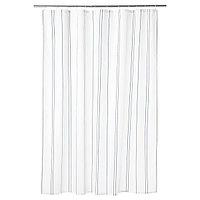 Штора для ванной ОТТШЁН белый/синий 180x200 см ИКЕА IKEA