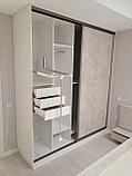 Встраиваемый распашной шкаф МДФ, фото 7