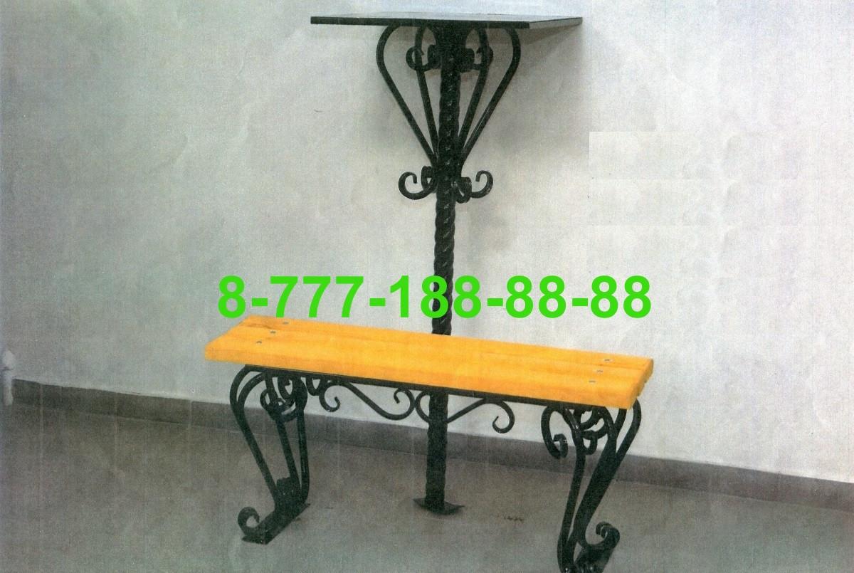 Столы и скамейки на кладбище №14