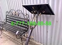 Столы и скамейки на кладбище №15