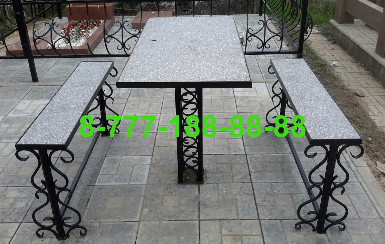 Столы и скамейки на кладбище №17