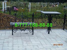 Столы и скамейки на кладбище №19