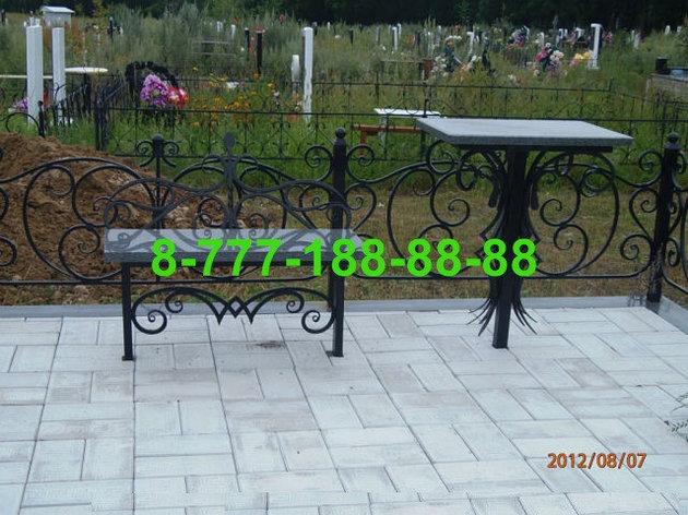 Столы и скамейки на кладбище №19, фото 2