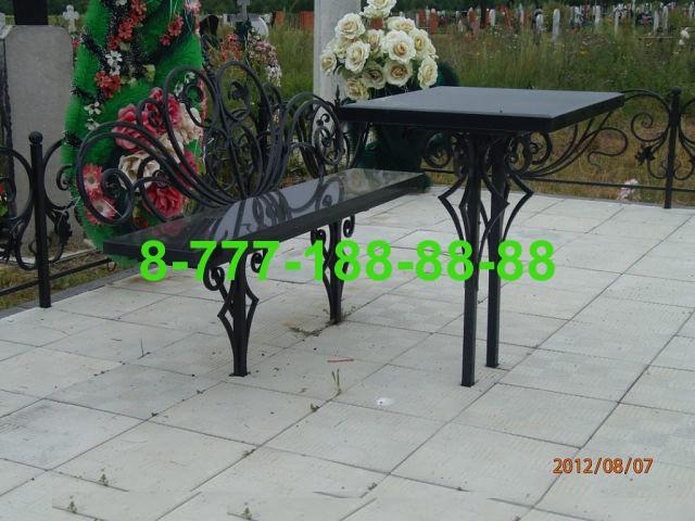 Столы и скамейки на кладбище №20