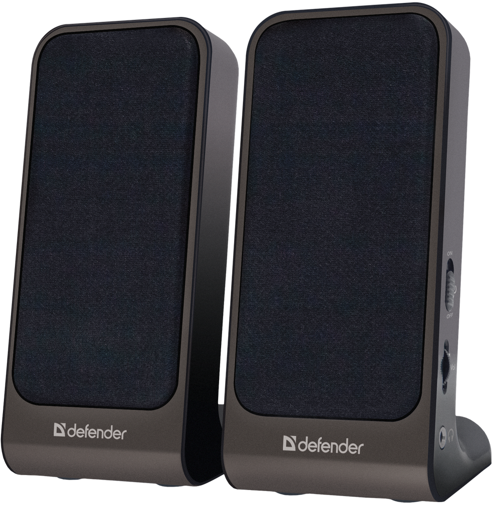 Defender SPK-225 Активная акустическая система 2.0, 2x2 Вт, USB пит, раз. д. науш.