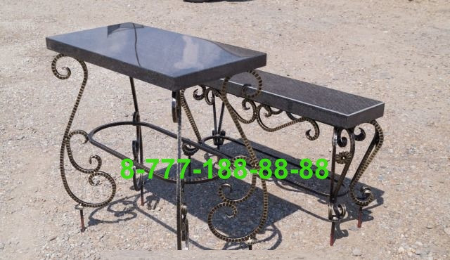 Столы и скамейки на кладбище №23