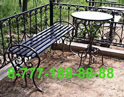 Столы и скамейки на кладбище №24, фото 2