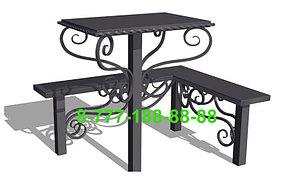 Столы и скамейки на кладбище №12