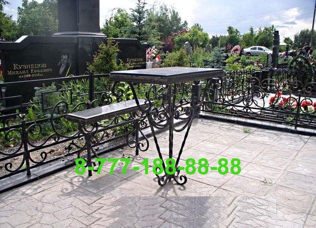 Столы и скамейки на кладбище №25, фото 2