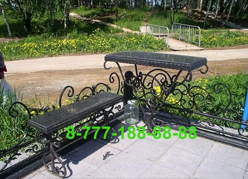 Столы и скамейки на кладбище №26
