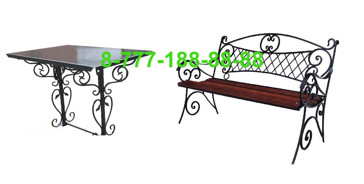 Столы и скамейки на кладбище №10